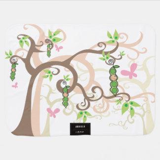 Pea In A Pod Trees New Birth Baby Girl Blanket Stroller Blanket