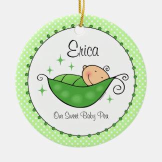 Pea In My Pod Personalized Ornament