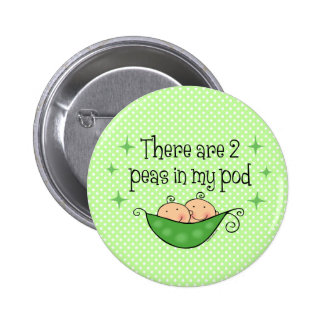 Pea in My Pod Twins Button