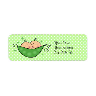 Pea In My Pod Twins Custom Label