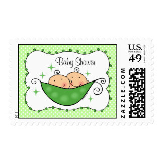 Pea In My Pod Twins Custom Stamp