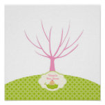 Pea in the Pod Baby Shower Guestbook Tree Poster