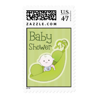 Pea in the Pod Baby Shower Postage