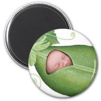 Pea Pod Baby 2 Inch Round Magnet