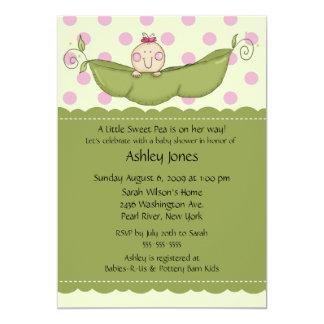 Pea Pod Baby Girl Baby Shower Invitations