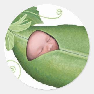 Pea Pod Baby Classic Round Sticker