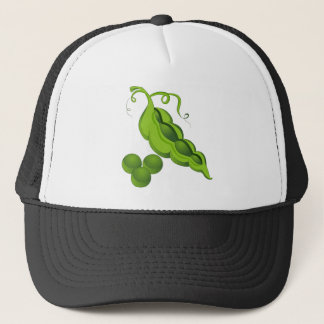 Pea Pod Cartoon Trucker Hat