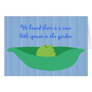 Pea Pod Pals New Baby Boy Congratulations Card