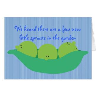 Pea Pod Pals New Baby Boys Congratulations Card