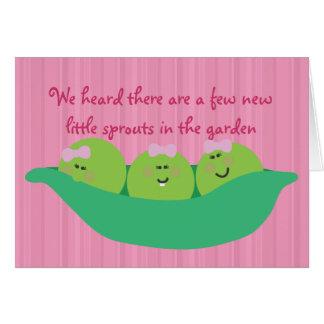 Pea Pod Pals New Baby Girls Congratulations Card