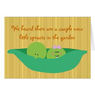 Pea Pod Pals New Twin Babies Congratulations Card