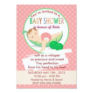 Pea Pod Sleeping rocking baby shower invitation