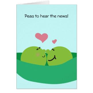 Pea Pod Sweethearts Congratulations Card