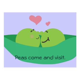 Pea Pod Sweethearts Postcard