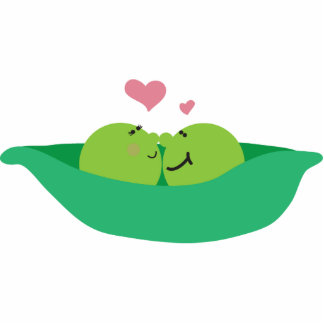 Pea Pod Sweethearts Sculpture Magnet Acrylic Cut Outs
