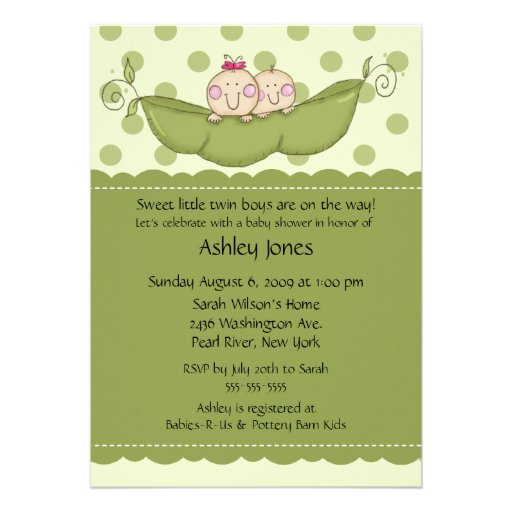 Pea In The Pod Baby Shower Invitations for great invitation ideas