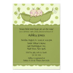 Pea Pod Twin Boy Or Girl Baby Shower Invitations