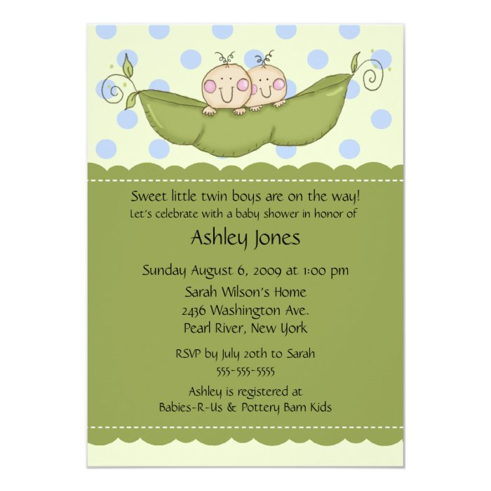 Pea In The Pod Baby Shower Invitations as best invitations sample