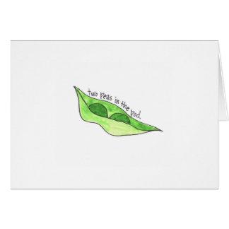 Pea Pod Twin Greeting Card