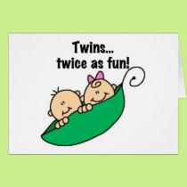 Pea Pod Twins Twice as Fun Card