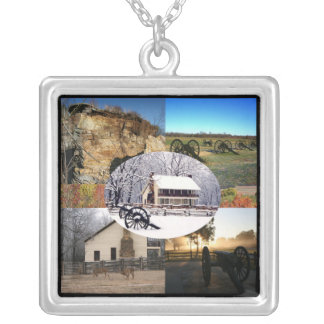 Pea Ridge National Military Park Silver Plated Necklace
