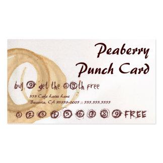 Peaberry manchó la tarjeta de sacador de la bebida plantilla de tarjeta personal
