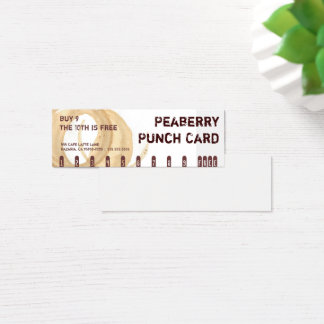 Peaberry Stain Coffee Drink Punch Card