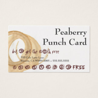 Peaberry Stained Mess Drink Punch Card