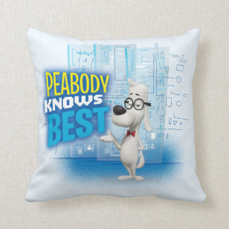 Peabody Knows Best Throw Pillow