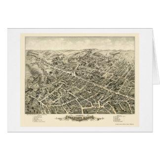 Peabody, mapa panorámico del mA - 1877 Tarjeta De Felicitación