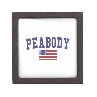 Peabody US Flag Keepsake Box