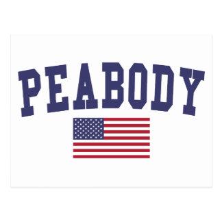 Peabody US Flag Postcard