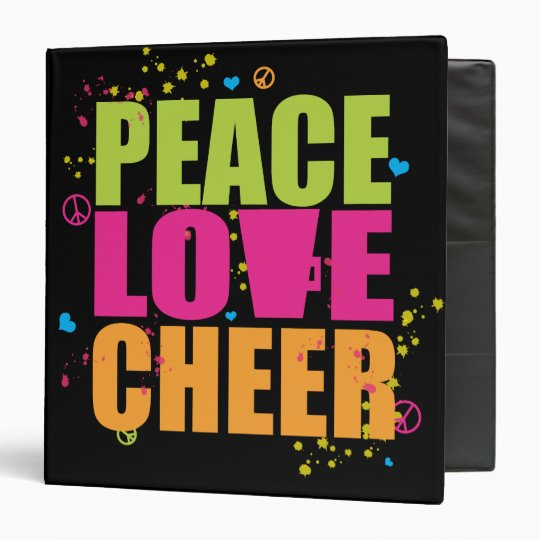 Peac Love Cheer Binder
