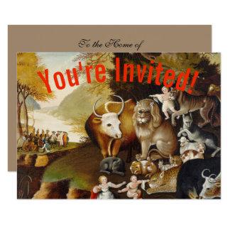 Peacable Kingdom Fine Art Custom Print Invitation