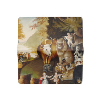 Peacable Kingdom Fine Art Custom Print Painting Checkbook Cover