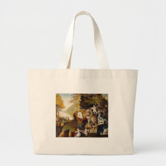 Peacable Kingdom Fine Art Custom Print Painting Large Tote Bag