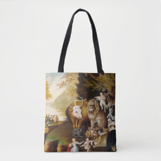 Peacable Kingdom Fine Art Custom Print Painting Tote Bag
