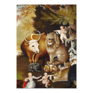 Peacable Kingdom Fine Art Painting Print Artwork Magnetic Card