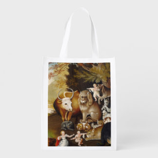 Peacable Kingdom Fine Art Painting Print Artwork Reusable Grocery Bag