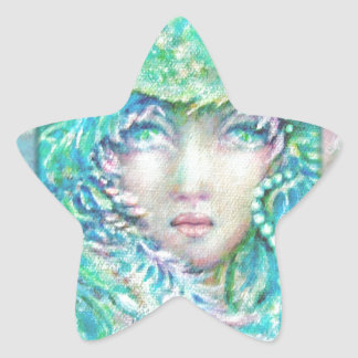 Peacck Girl by MagentaRivers Star Sticker