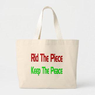 peace2 jumbo tote bag