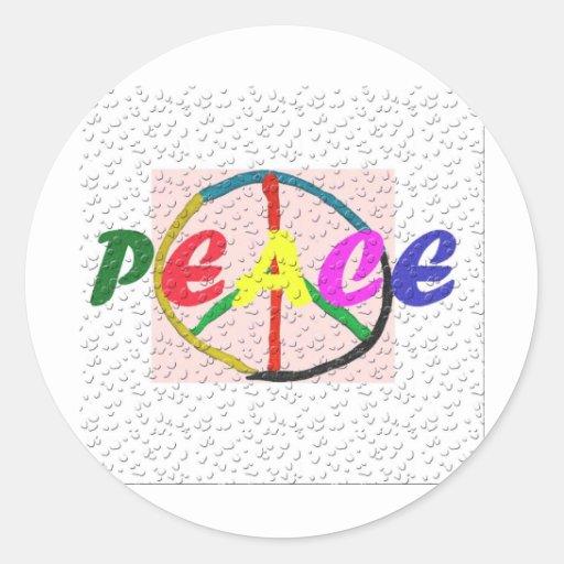 peace2 pegatinas redondas
