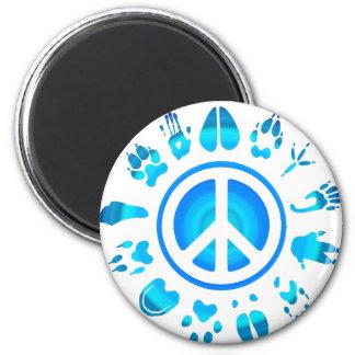 peace4 peludo imán redondo 5 cm