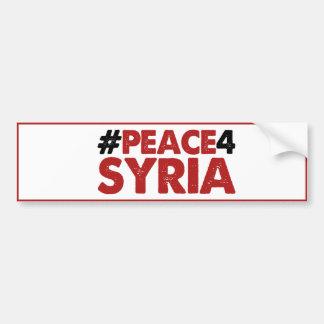 #PEACE4SYRIA CAR BUMPER STICKER