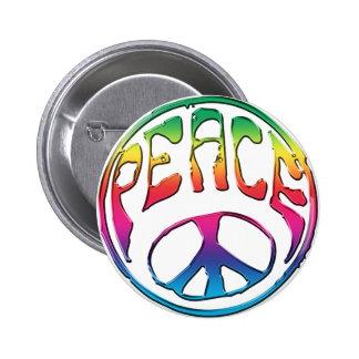 Peace-01 Pin Redondo De 2 Pulgadas