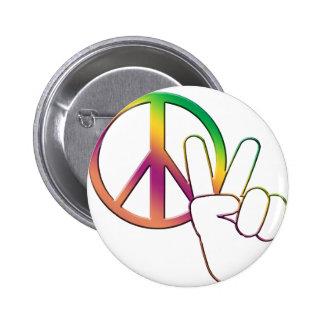 Peace-02 Pin Redondo De 2 Pulgadas