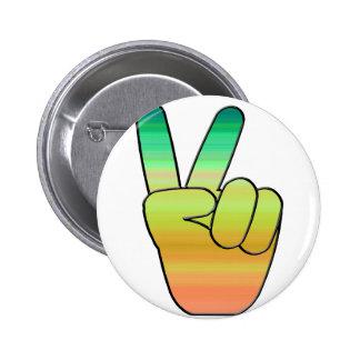 Peace-03 Pin Redondo De 2 Pulgadas