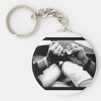 peace-1 basic round button keychain