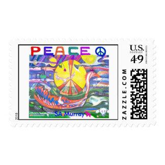 PEACE 2004 - SA Murray ART Postage