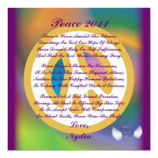 Peace 2011, A Poem Card-Customize Card